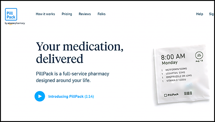 PillPack launches Amazon Pharmacy branding - Healthcare Finance News