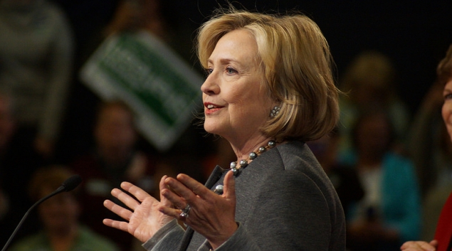"""Photo of Hillary Clinton by <a href=""""https://www.flickr.com/photos/marcn/15693328451/in/photostream/""""> Marc Nozell </a>"""