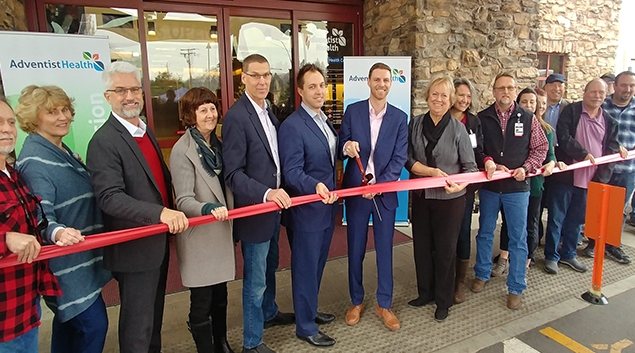 A ribbon-cutting ceremony for the reopening of the Feather River clinic