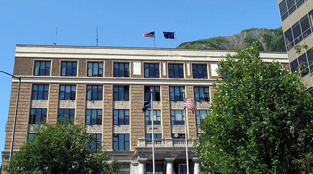 "Alaska Capitol Building-Juneau. Photo by <a href=""http://www.alaska.org/detail/alaska-state-capitol-building""> Alaska.org </a>"