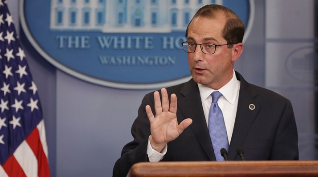 Alex Azar speaks to the press. Photo Credit: Chip Somodevilla/Getty Images