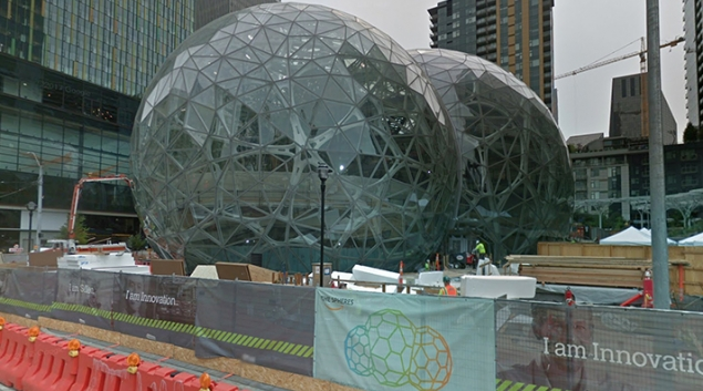 The Spheres, Amazon's new headquarters. Credit: Google Street View