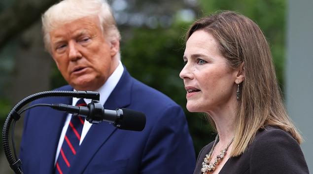 President Trump nominates Amy Coney Barrett for Supreme Court. Getty Editorial Photo/Chip Somodevilla