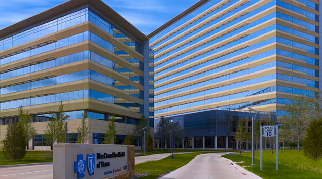 "BCBS Texas headquarters-Photo via <a href=""http://kdc.com/our-work/blue-cross-blue-shield-tx/""> KDC </a>"
