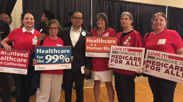 """California Nurses have been pushing hard for a single-payer option. Photo via <a href=""""https://twitter.com/CalNurses"""" target=""""_blank"""">Twitter</a>"""