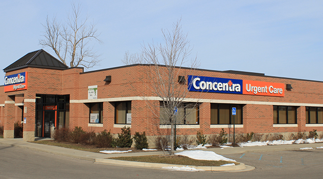 """Photo by <a href=""""https://commons.wikimedia.org/wiki/File:Concentra_urgent_care_medical_center_Romulus_Michigan.JPG""""> Dwight Burdette </a>"""