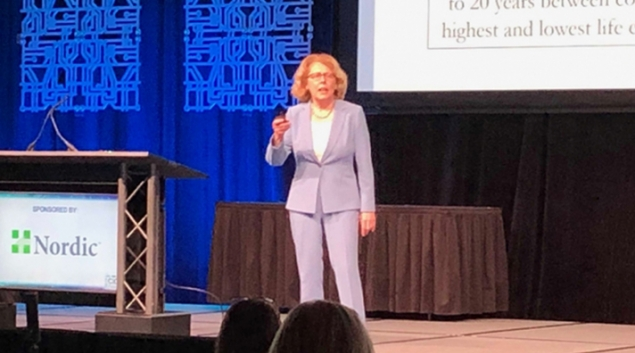 Dr. Claire Pomeroy addresses the social determinants at HIMSS19.