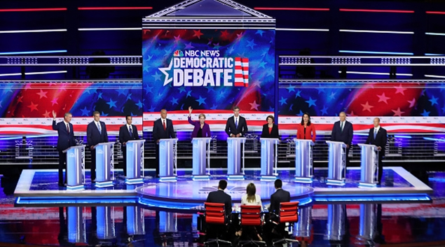 Democratic candidates take the stage during first debate in June.