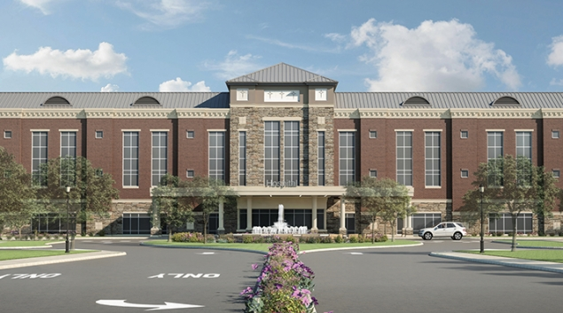 A rendering of the proposed hospital. Credit: Geisinger