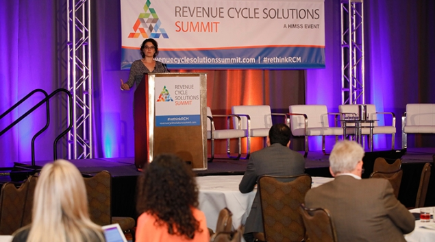 Rebecca Kaul speaks at the HIMSS18 Revenue Cycle Summit