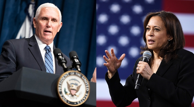 Mike Pence and Kamala Harris take the debate stage Wednesday night. (Kamala (Harris photo by Ethan Miller; Pence photo by Joshua Roberts. Both Getty Images)