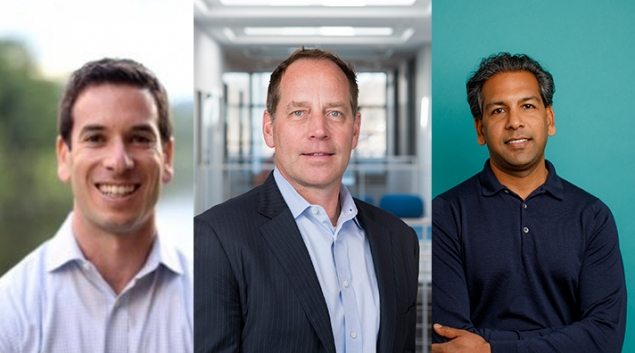 Insurtech executives, from left, Seth Cohen, Tony Miller and Vivek Garipalli will be speaking at Health 2.0.