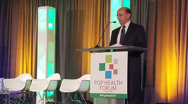 Joseph Antos, a scholar at the Washington, D.C.-based think tank American Enterprise Institute, speaking at the Pop Health Forum in Chicago on Tuesday.