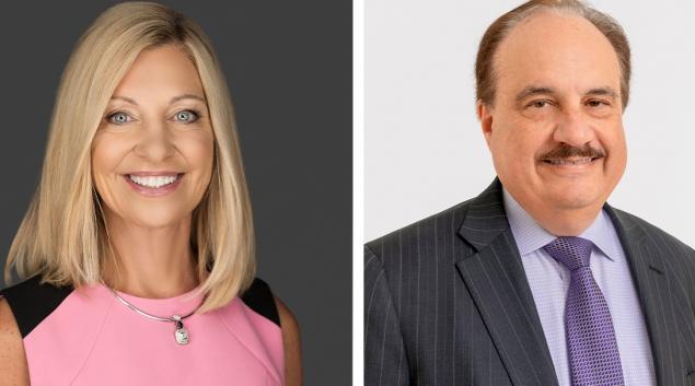 Aetna president Karen Lynch and CVS Health CEO and president Larry Merlo