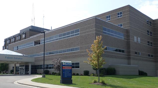 "McLaren Lansing Hospital-photo via <a href=""https://commons.wikimedia.org/wiki/File:Mclaren_Greater_Lansing.jpg""> kennethaw88 </a>"