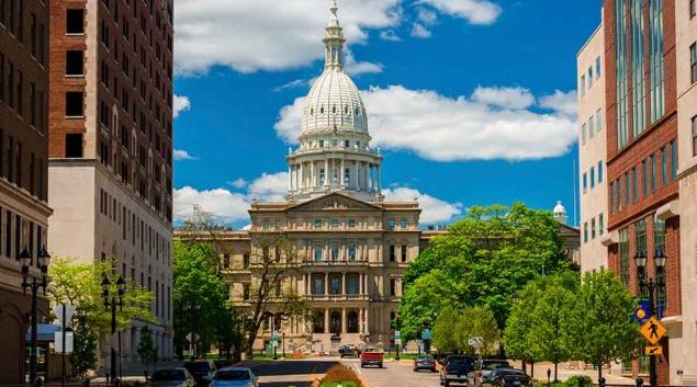 MIchigan State Capitol Building in Lansing, courtesy Michigan.gov
