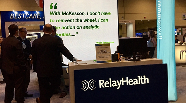 RelayHealth booth at HIMSS17