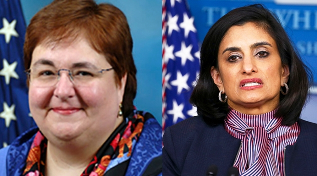 Elizabeth Richter, left, has been named interim head of CMS, replacing Administrator Seema Verma.