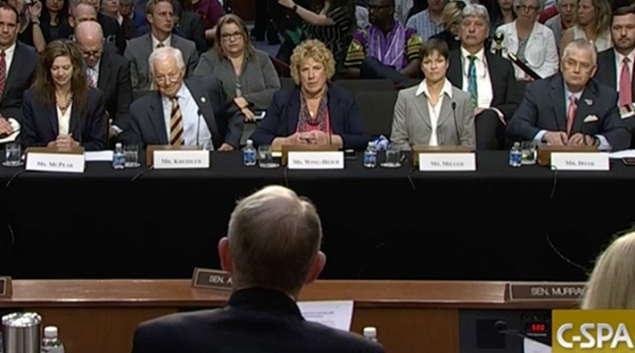 Senate committee Chairman Lamar Alexander speaks with state health insurance commissioners on Wednesday. Credit: C-Span