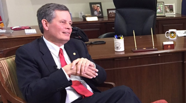 "Senator Steve Daines represents Montana and has reportedly said he is undecided on his vote about the GOP bill. Photo via <a href=""https://twitter.com/SteveDaines"" target=""_blank"">Twitter</a>"