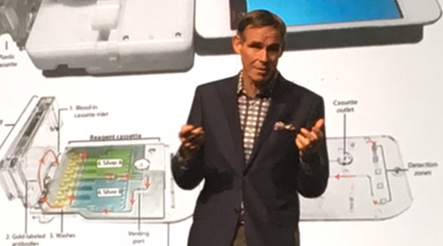 Eric Topol, M.D., renowned cardiologist, researcher, author addresses HFMA ANI audience.