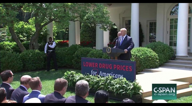 President trump wants drug companies to post prices in ads credit c span malvernweather Gallery