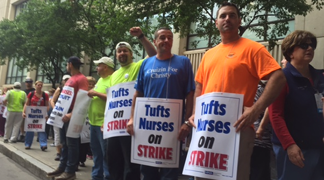 Tufts nurses strike, marking Boston's 1st RN strike in 30 years
