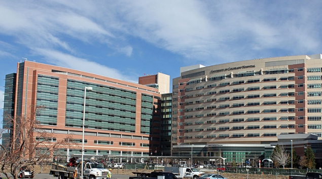 "Credit:<a href=""https://commons.wikimedia.org/wiki/File:University_of_Colorado_Hospital.JPG"">Jeffrey Beall via Wikimedia Commons</a>"