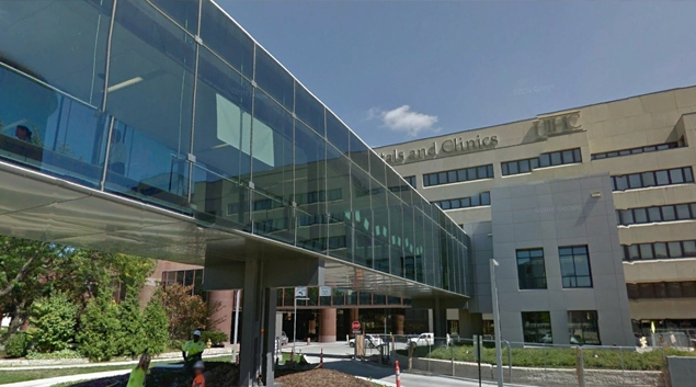 University of Iowa Hospitals and Clinics in Iowa City (Google Earth)