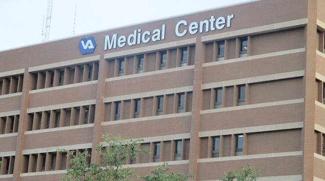 "Audie L. Murphy Veterans Administration Hospital in San Antonio, TX (via <a href=""https://commons.wikimedia.org/wiki/File:Audie_L._Murphy_VA_Hospital,_San_Antonio,_TX_IMG_7759.JPG"">Wikipedia</a>)"