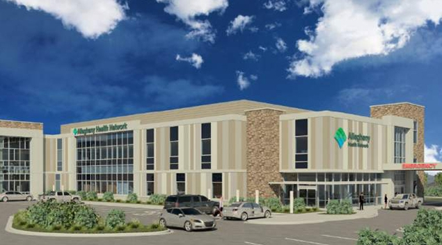 A rendering of the new project. Credit: Allegheny Health Network.