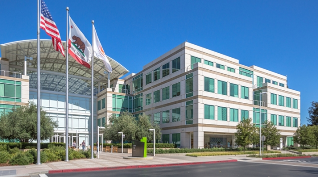 Apple headquarters in Cupertino, California.