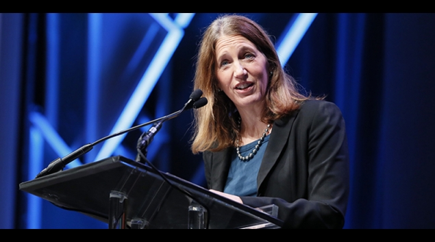 HHS Secretary Sylvia Burwell speaking at HIMSS16 earlier this week.