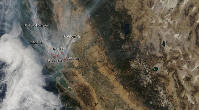 Kaiser Locations California Map.Wildfires Close Down Northern California Kaiser Permanente Sutter
