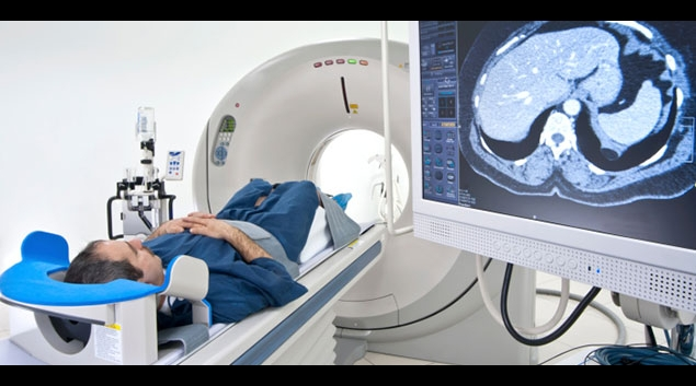 Person receiving a CT scan (Stock image)