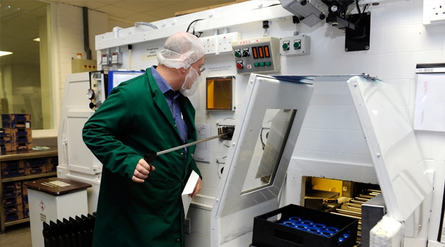 Packaging radioactive pharmaceuticals at GE Healthcare's facility in Amersham, England (Google)