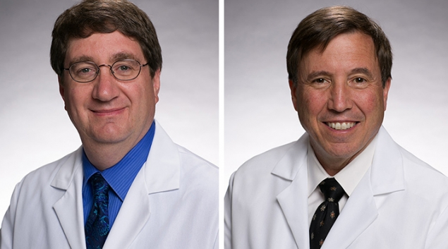 """Hackensack Meridian Health physicians Stuart Goldberg (left) and Andrew Pecora are hosting a HIMSS18 session, """"Precise Disease Classification Optimizes Bundled Payments"""" on March 7."""