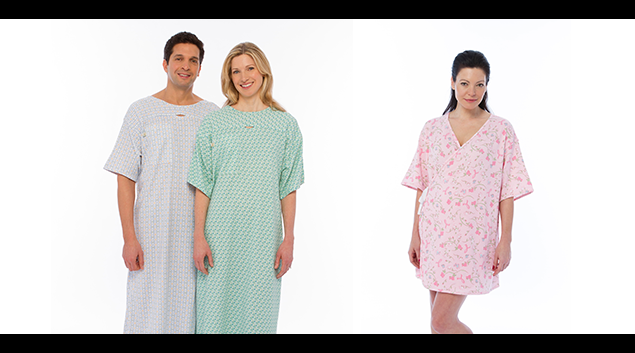 Updated hospital gowns by PatientStyle are starting to replace the dreaded, bottom-bearing ones.