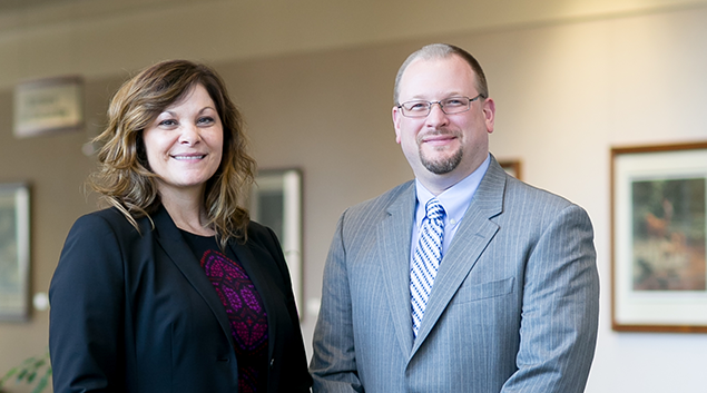 Security Health Plan CEO Julie Brussow (left) and Marshfield Clinic CFO Gordon Edwards are proving how connecting a system with a provider-run plan can work best.