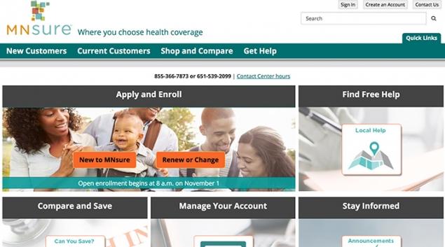 Minnesota's state health exchange, MNsure.