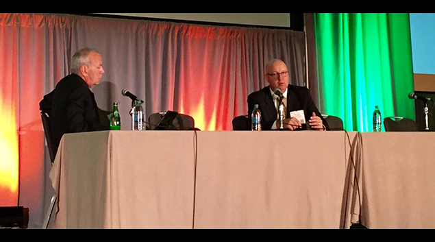 Joe Nichols of Health Data Consulting questions Mayo Clinic revenue cycle chief Mark Norby.