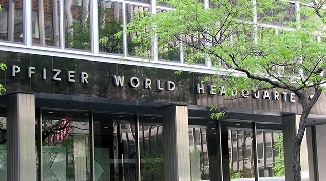 Pfizer's headquarters (Wikimedia Commons image)