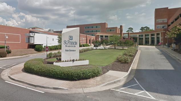 St. Francis Hospital in Columbus, Georgia. Credit: Google Maps