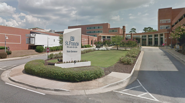 St. Francis Hospital in Columbus, Georgia. Credit: Google Maps