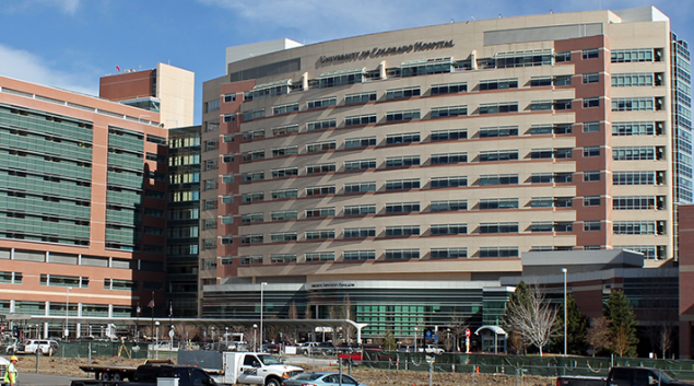 "The University of Colorado Hospital. (via <a href=""https://commons.wikimedia.org/wiki/File:University_of_Colorado_Hospital.JPG"">Wikipedia</a>)"