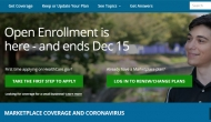 "Sign-on screen with the words: ""Open enrollment is here - and ends December 15"""
