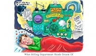 Cartoons from HIMSS17 adopt a lighter view, poke fun at claims management, denials and data analytics
