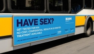 Mock up Boom!Health bus ad
