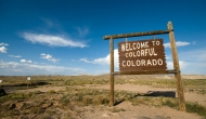 Welcome to Colorado sign, wikipedia