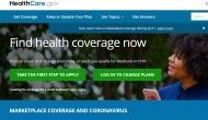 Image: Screenshot of Healthcare.gov website